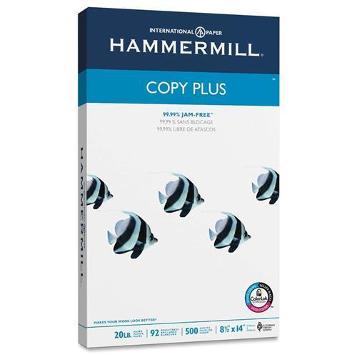 "105015CT Hammermill Copy Plus Copy & Multipurpose Paper - Legal - 8.50"" x 14"" - 20 lb Basis Weight - 92 Brightness - 5000 / Carton - White"