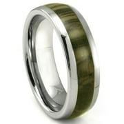 Titanium Kay Tungsten Carbide Oak Metamorphic Stone Inlay Dome Comfort Fit Mens Wedding Band Ring Sz 10.0
