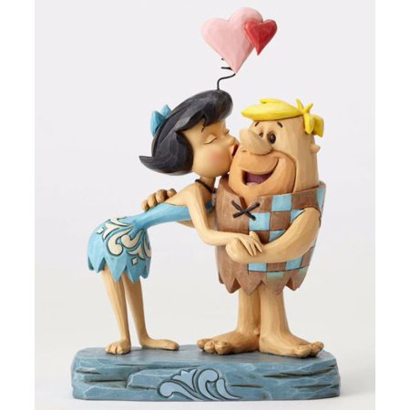 Jim Shore Flintstones Rubble Romance Betty and Barney Kissing Figurine 4051595