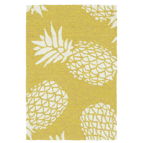 Kaleen Sea Isle Handmade Gold / Ivory Indoor / Outdoor Area Rug