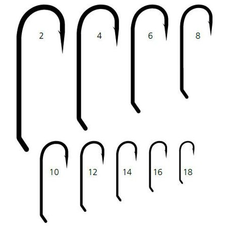 STREAMER Signature Fly Hooks Size 10 25ct - R73NPBR10 By Mustad Ship from US