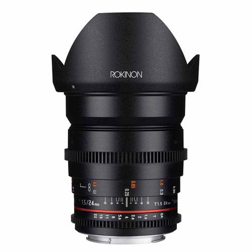 ROKINON 24mm T1.5/f1.4 Cine Wide-Angle Lens for Micro 4/3 Cameras
