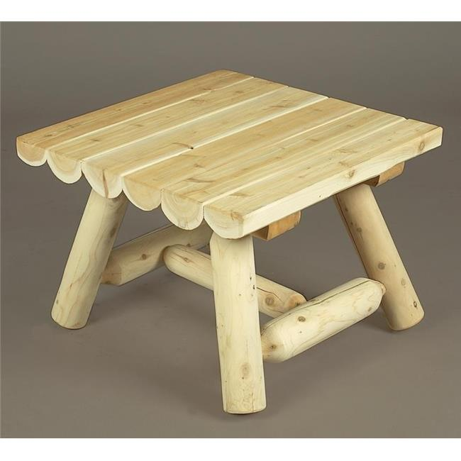 Rustic Natural Cedar Furniture 0200090 24 ft.  Square Coffee Table