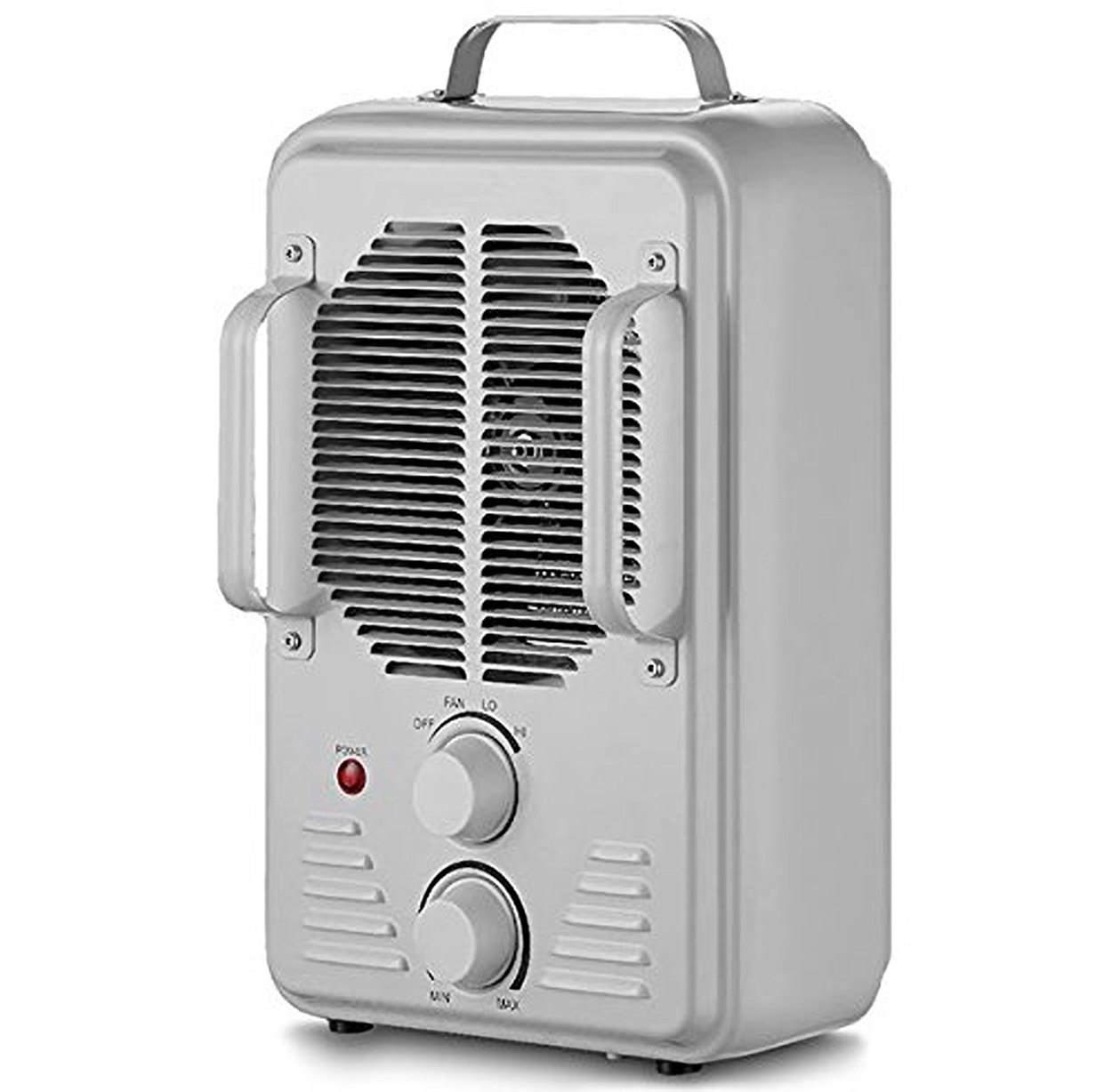 Space Heater with Thermostat 2 Heat Settings & Fan Setting - Durable Metal Design