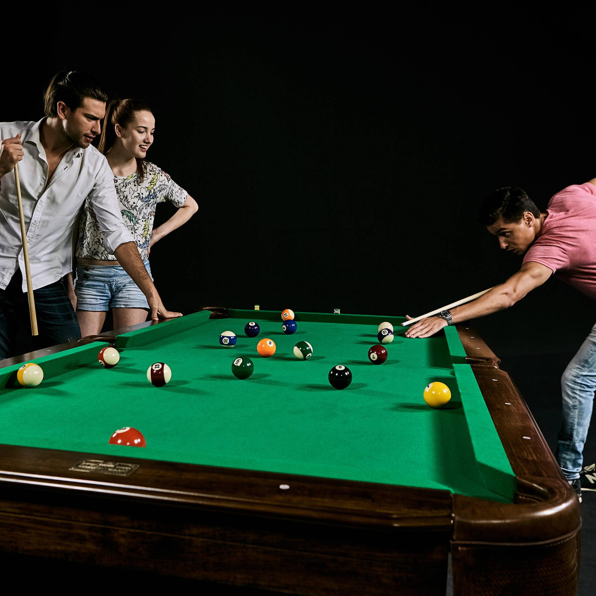 Barrington Inch Ball And Claw Leg Billiard Pool Table With Bonus - Springdale pool table