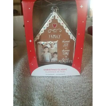 Christmas gingerbread house photo frame Ornament upc 064319284681 ()