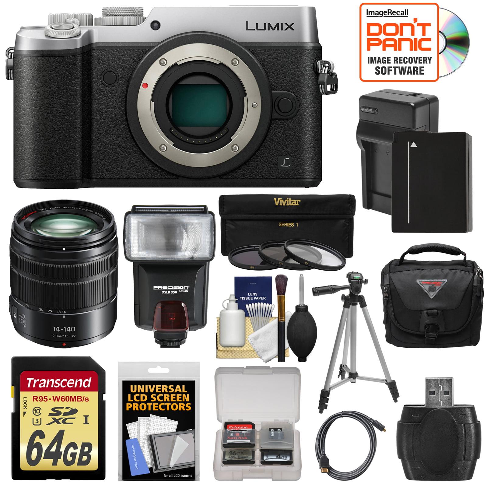 Panasonic Lumix DMC-GX8 4K Wi-Fi Digital Camera Body (Silver) with 14-140mm Power OIS Lens + 64GB Card +... by Panasonic
