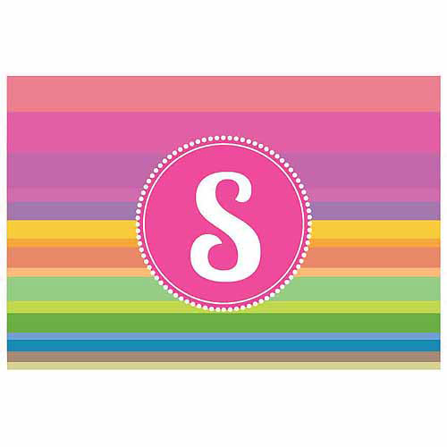Personalized Rainbow Stripes Doormat