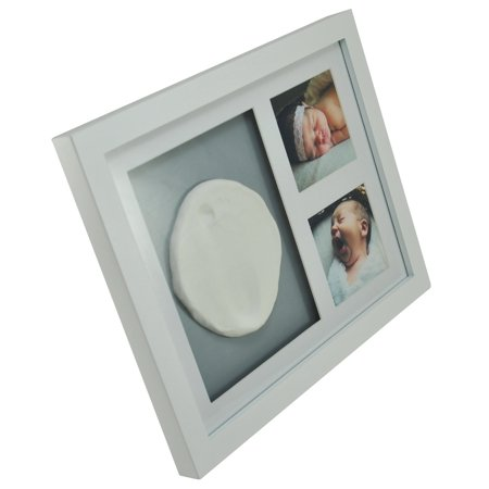 - Shadowbox Handprint and Footprint Photo Frame. Nursery/Pet Keepsake with Non-Toxic Clay, Real Glass & Wall/Table Mount. Great Easter Gift for Parents!