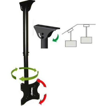 Impact Resistant Wall Mount - Impact Mounts CEILING TV MOUNT BRACKET LCD LED PLASMA 24 26 30 32 36 37 40 TILT SWIVEL ROTATE