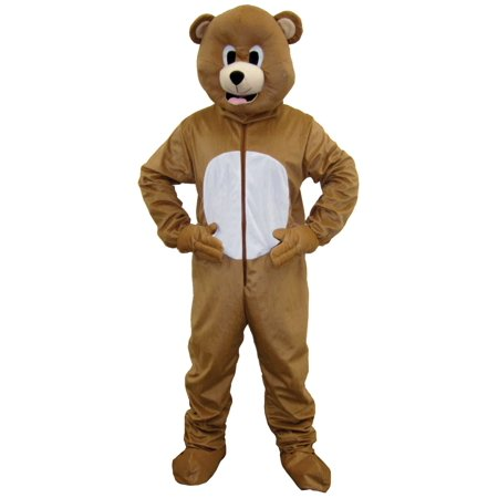 Brown Bear Mascot Costume](Mens Care Bear Costume)