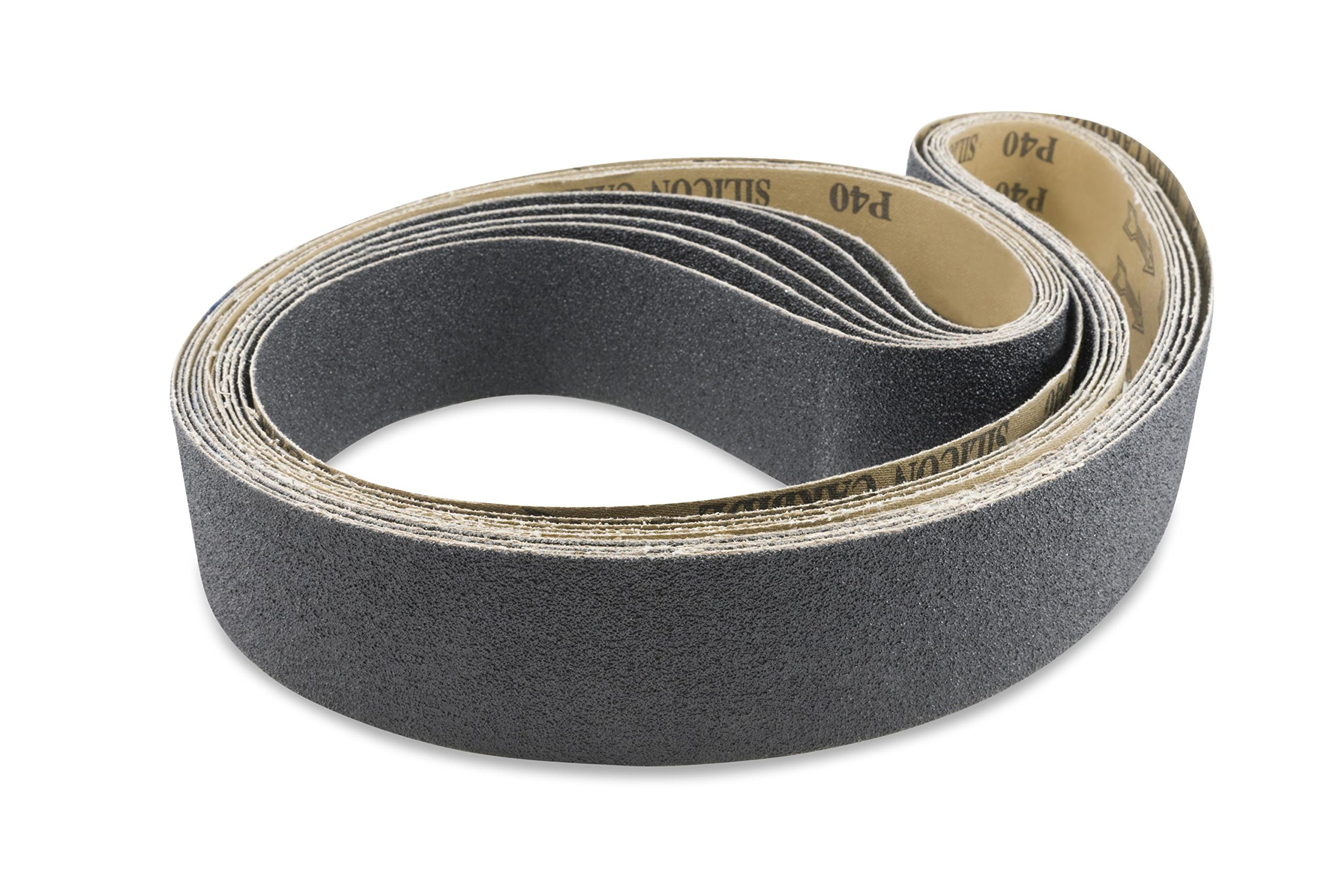 2 X 72 Inch Silicon Carbide Sanding Belts, 6 Pack by Red Label Abrasives