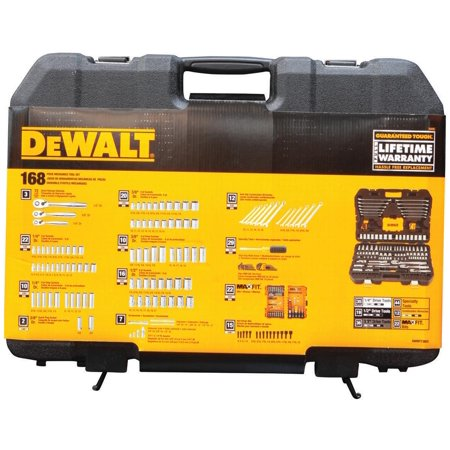 DEWALT Mech Tool Kit, 168 Piece Set, with PTA Case