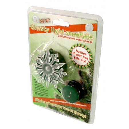 Thirsty Light Battery Operated Blinking Snowflake Christmas Tree Water