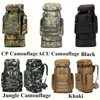80L Large Military Tactical Backpack Rucksack Camping Hiking Bag Sport Travel