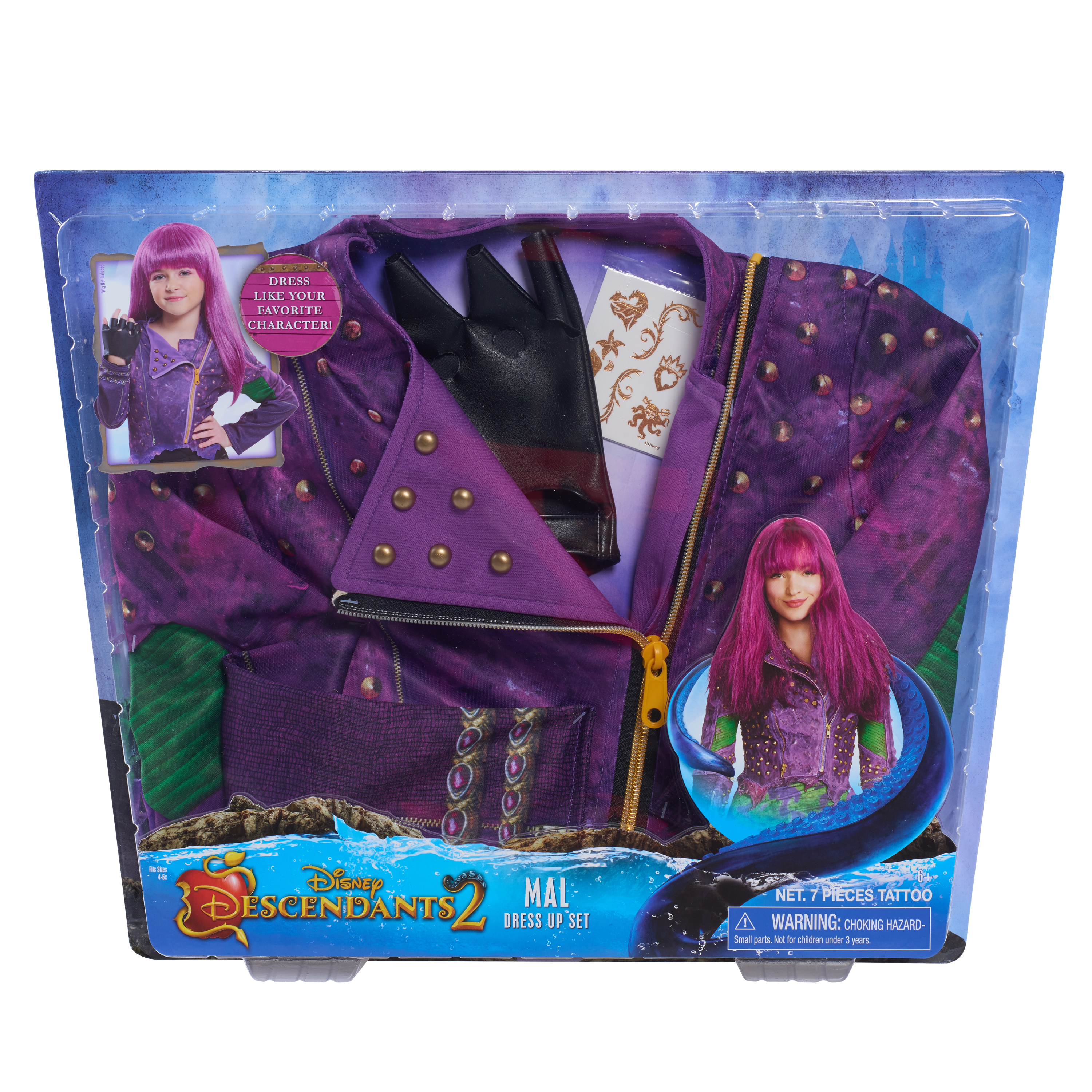 Descendants Dress Up Box Set- Mal Dress Up Box Set - Walmart.com