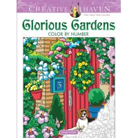 Creative Haven Coloring Books: Creative Haven Glorious Gardens Color by Number Coloring Book (Paperback)