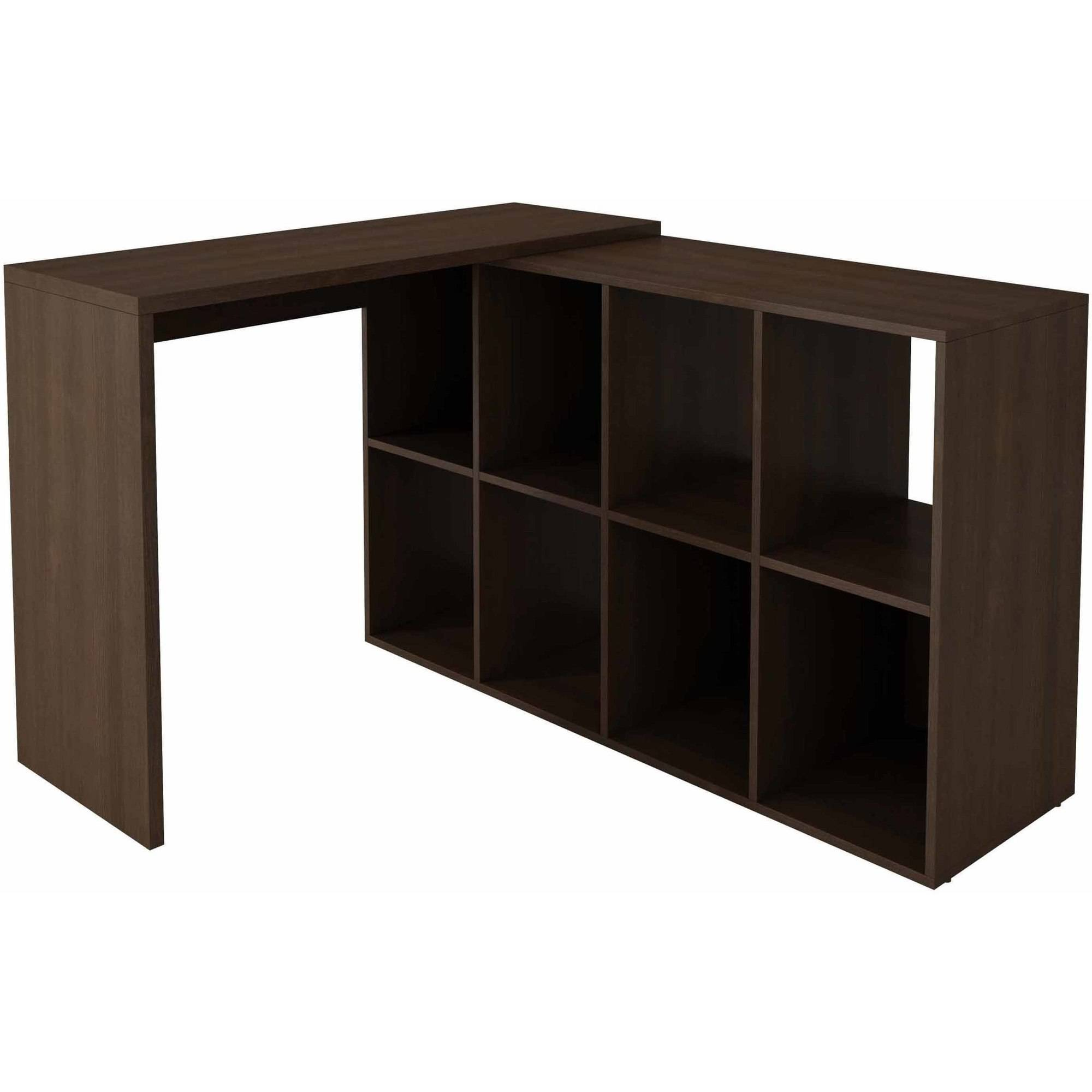 Image of Manhattan Comfort Accentuations Taranto Cubby Desk with 8 Shelves
