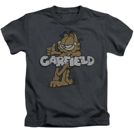 Clothing Garb - Juvenile: Garfield - Retro Garf Apparel Kids T-Shirt - Grey