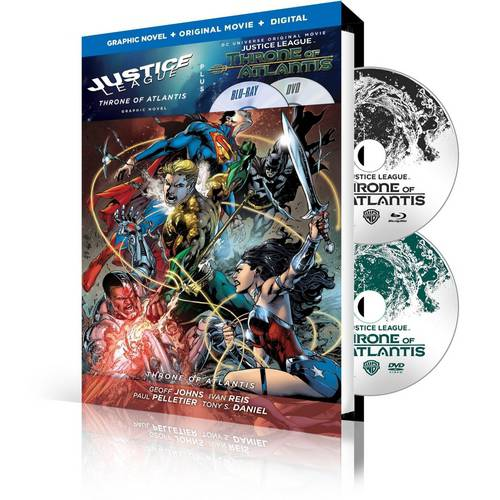 Justice League: Throne Of Atlantis (Graphic Novel + Blu-ray + DVD + Digital HD With UltraViolet)