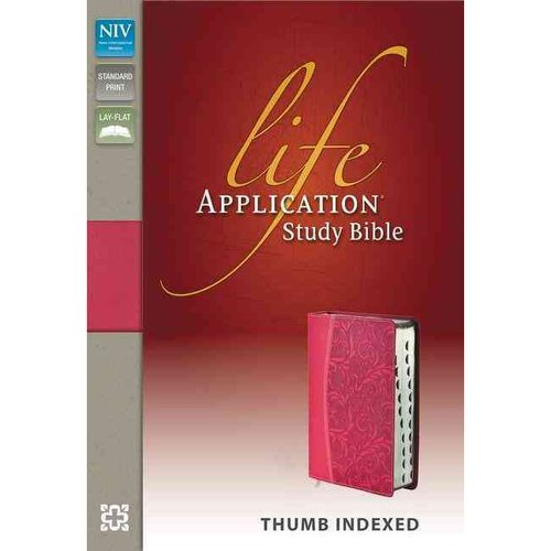 Life Application Study Bible: New International Version Honeysuckle Pink Italian Duo-Tone