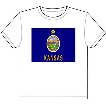 Laminated Poster Kansas State Flag T-Shirt Tee Picture Topeka Wichita City Overland Poster Print 24 x 36](Party City Overland Park Kansas)