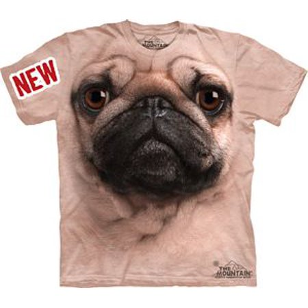 Pug Face Adult T Shirt By The Mountain   10 3369