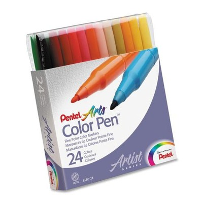 Pentel Arts Fiber Tip Color Pen PENS36024