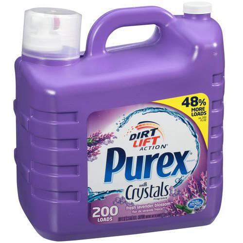 Purex with Crystals Fragrance Fresh Lavender Blossom Liquid Laundry Detergent, 200 loads, 300 fl oz