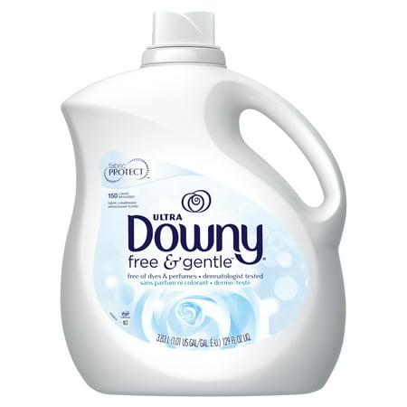 Downy Ultra Liquid Fabric Conditioner (Fabric Softener), Free & Gentle, 150 Loads 129 fl oz
