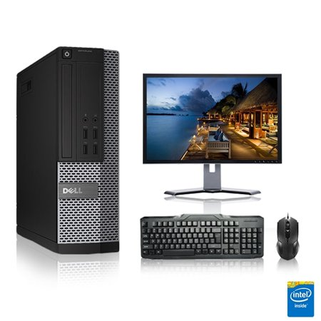Refurbished - Dell Optiplex Desktop Computer 3.3 GHz Core I3 Tower PC, 6GB, 250GB HDD, Windows 10 Home x64, 19