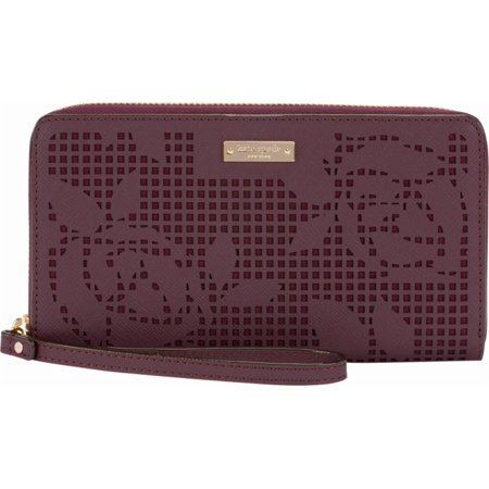Three Way Zip Case (kate spade new york Zip Wristlet - Case for cell phone - perforated rose)