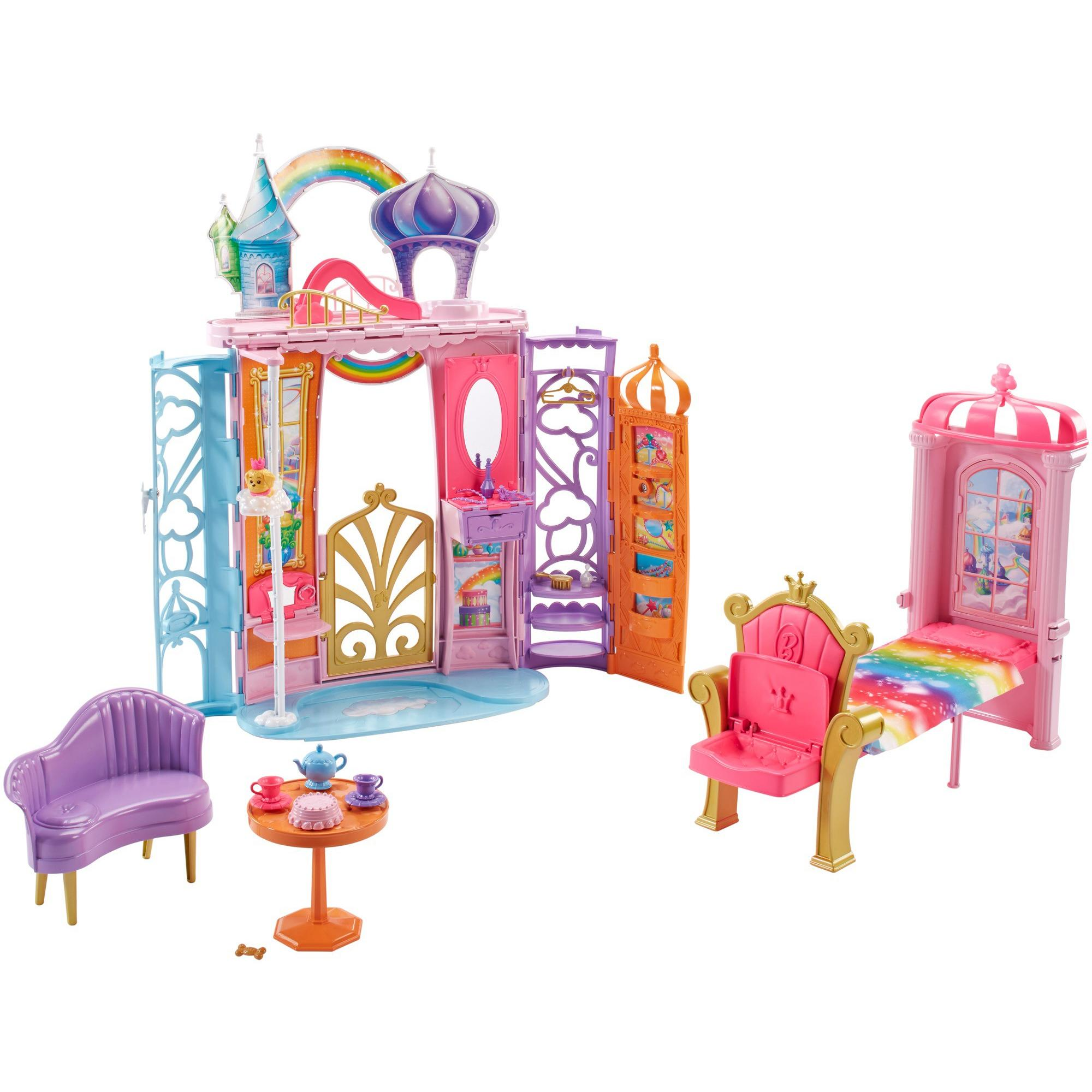Barbie Dreamtopia Castle Portable Playset with Transforming Features by Mattel