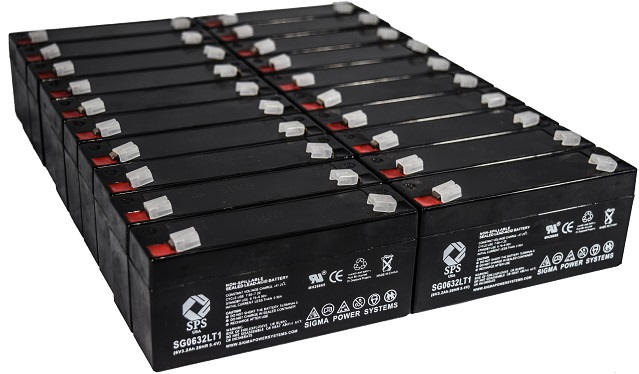 SPS Brand 6 V 3.2 Ah Replacement Battery with Terminal T1 for Siemens 341 (24 PACK) by