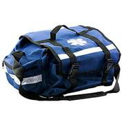First Aid Responder EMS Emergency Medical Trauma Bag - Paramedics, Firefighters, Nurses, Home Health Aides (Blue)