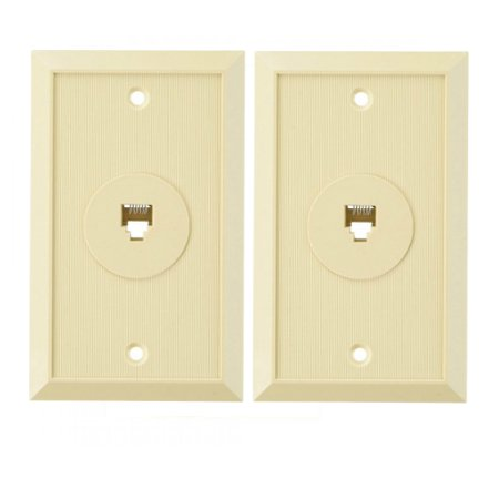 - AT&T 24164 Flush Jack 1 Outlet w/ 6-Conductor Modular Flush Mount (2 Pack)