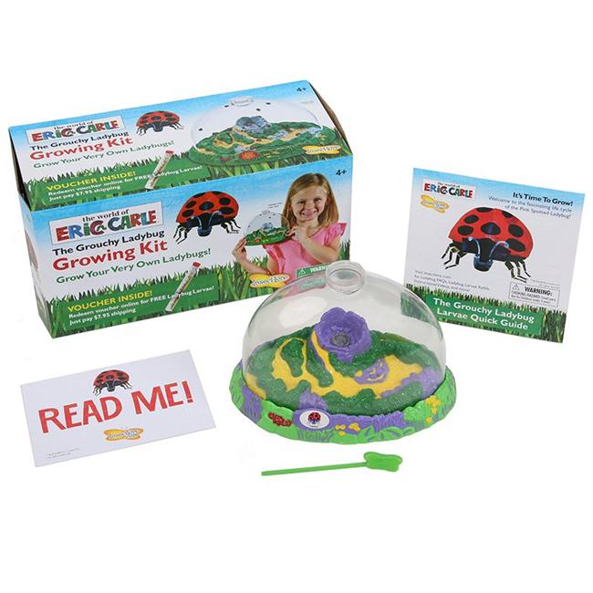 Insect Lore World of Eric Carle, The Grouchy Ladybug Growing Kit with Voucher by Insect Lore