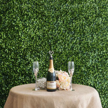 BalsaCircle 4 Green Boxwood Leaves Wall Backdrop Panels Background Wedding Party Photo Booth Artificial Greenery Background - Boxwood Wall