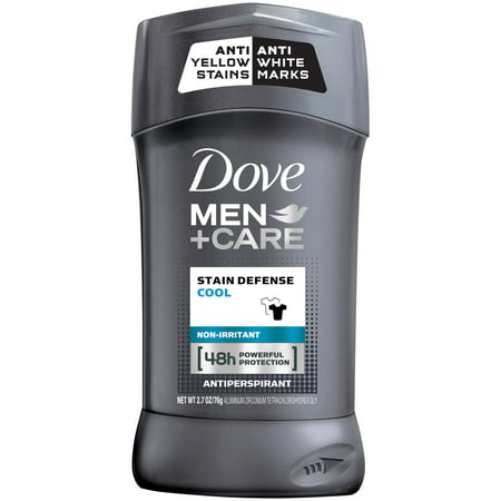 Dove Men+Care Stain Defense Cool Antiperspirant Deodorant Stick, 2.7 (Best Way To Remove Antiperspirant Stains)