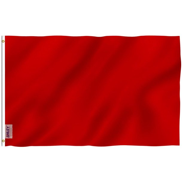 Fly Breeze 3 Ft X 5 Ft Polyester Solid Red Color Flag 2 Sided Flag Banner With Brass Grommets And Canvas Header Walmart Com Walmart Com