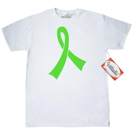Inktastic Lime Green Awareness Ribbon T-Shirt Lyme Disease Muscular Dystrophy Lymphoma Support Walk Mens Adult Clothing Apparel Tees T-shirts Hws