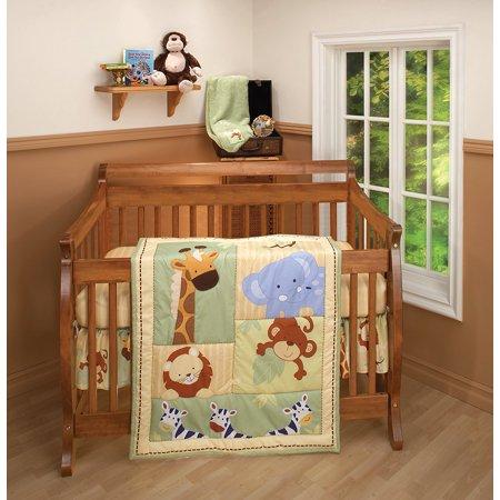Nojo 3 Piece Comforter Set, Safari - Nojo Safari Kids