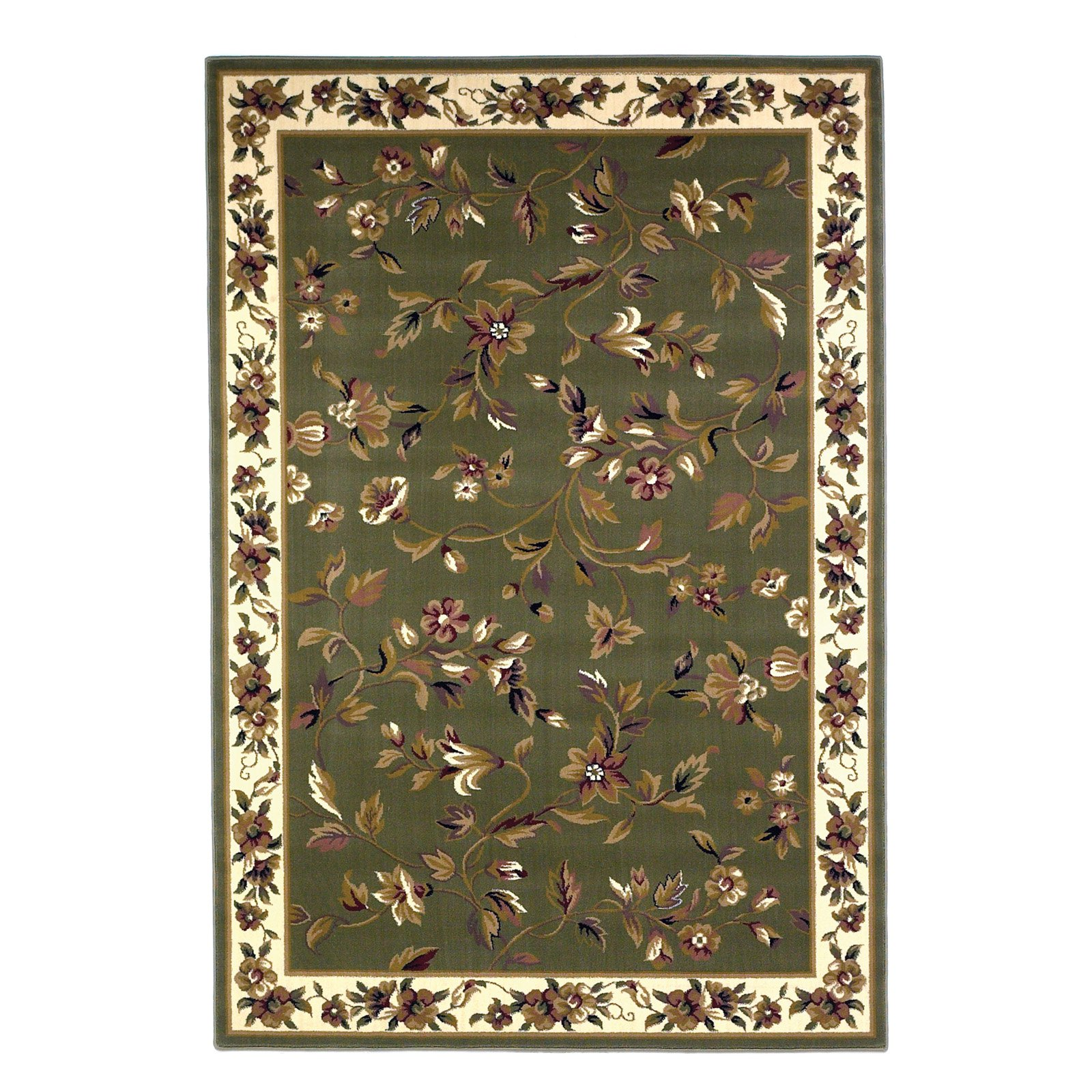 Click here to buy KAS Rugs Cambridge 733 Floral Vine Area Rug by KAS Rugs.