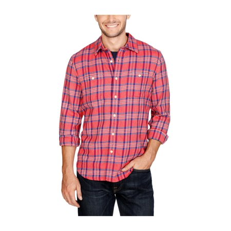 Lucky Brand Mens Woven Button Up Shirt 2rb L - image 1 de 1