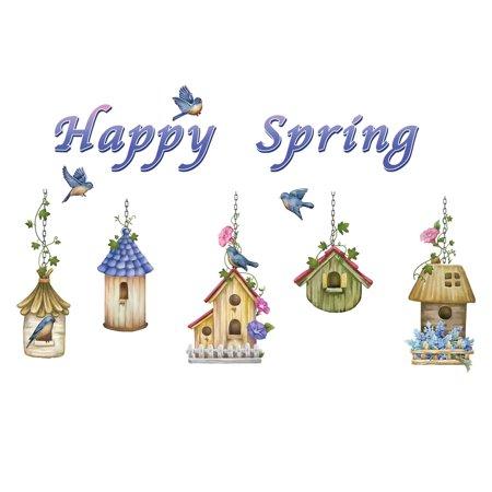 Happy Spring Birdhouses Decorative Removable Garage Door - Happy Halloween Garage Door Magnets