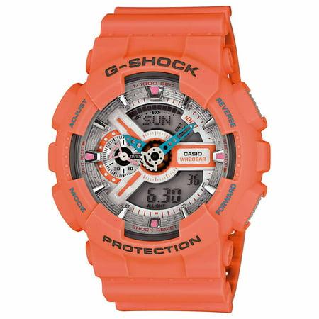 50552d002 Casio - GA110DN-4A Men's G-Shock Ana-Digi Grey Dial Orange Resin Strap  Alarm Chrono Dive Watch - Walmart.com