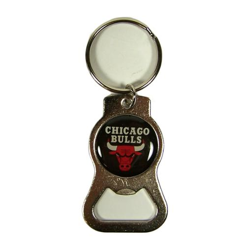 Chicago Bulls Official NBA 4 inch  Bottle Opener Key Chain Keychain by Evergreen