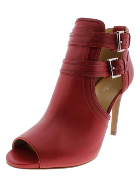 86a7977a369 Product Image MICHAEL Michael Kors Womens Blaze Leather Open Toe Booties  Red 9 Medium (B,M