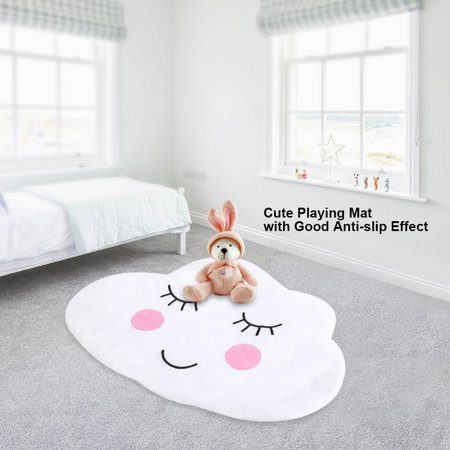 Walfront Cotton Children Kids Bedroom Rugs Anti Slip Mini Carpets Mats Nursery Playroom Home Use Mat Carpet