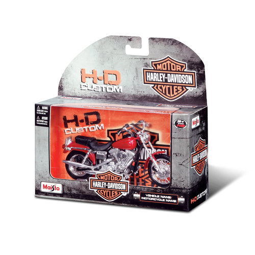 Harley Davidson 1:18 Die-Cast Vehicle, Assorted
